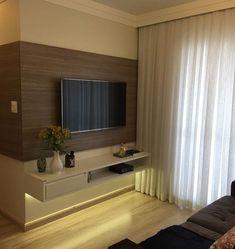 """1,671 curtidas, 15 comentários - Arquitetura de Interiores (@arq4home) no Instagram: """"Home pra TV com projeto por @tassia_pereira_interiores"""" #decoraciondecocinaspequenas"""