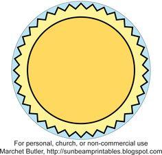 Sunbeam Printables: Sunbeam Name Tags