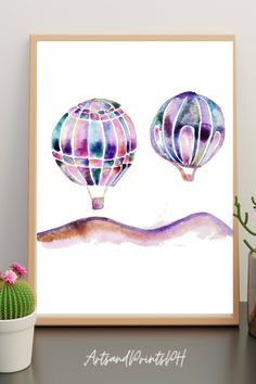Add that fun yet nostalgic decor to your home with this watercolor Hot Air Balloon print! This hand painted design will help you add that playful feel to your home. You just have to print the watercolor digital art and you're all set to go. Diy Art, Modern Prints, Art Prints, Etsy Best Sellers, Inspiration Art, Printed Balloons, Printable Art, Printables, Paint Designs
