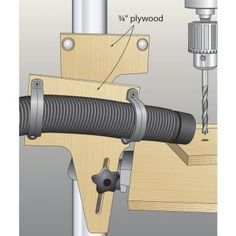 One of my projects required drilling a recess for a magnet on an angled face, so I came up with this little trick to do it without tilting my drill-press table.