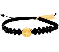 Brightly shining. With a radiant Benedictine medal surrounded by crystals on woven cording, the Stairway to Heaven bracelet from My Saint My Hero lifts up your heart--and let's others know what matters most. QVC.com