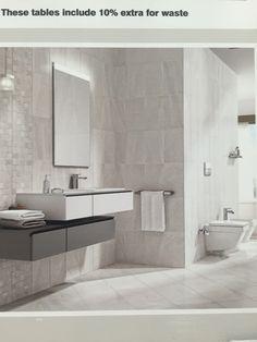 FLISER. Fiji grey bathroom - homebase