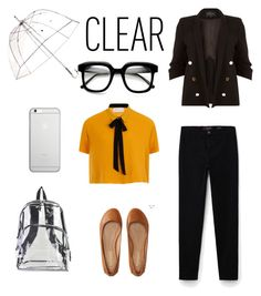 """""""Clear"""" by shistyle ❤ liked on Polyvore featuring Totes, ZeroUV, Native Union, International, Elvi, Violeta by Mango, Aéropostale, River Island, clear and Seethru"""