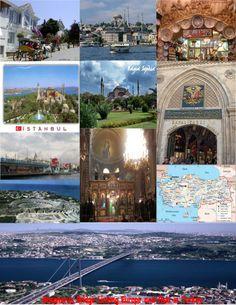 The Bosphorus Bridge links Europe and Asia in Istanbul, Turkey