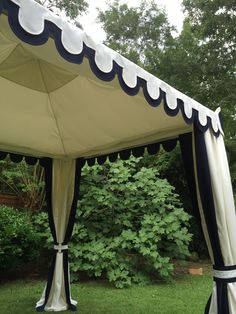 Classic Navy and White tent, for Lewis Miller Design. www.boutiquetents.net