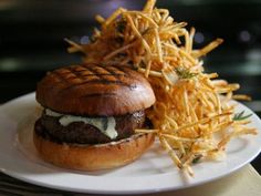 The Spotted Pig offers an amazing burger with Roquefort Cheese + Pat La Frieda-sourced cuts incorporated with Brisket, Short Loin, and Chuck: http://www.gokamino.com/hike/93