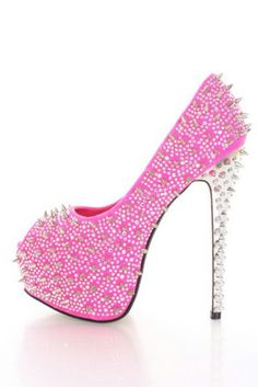 Pink with silver studs