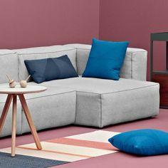 Le sofa modulable MAGS SOFT, coutures apparentes, version Tissu par HAY : composez votre coin salon unique ! - déco et design