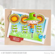Fall Friends Stamp Set and Die-namics, Single Stitch Line Rectangle Frames Die-namics, Grassy Fields Die-namics, Blueprints 24 Die-namics - Keeway Tsao  #mftstamps