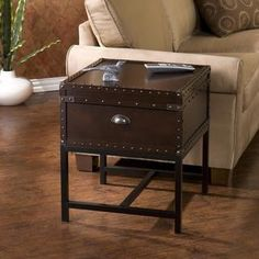 Upton Home Brookwood Espresso Storage End Table