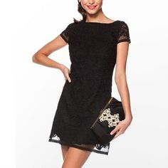 Lilly Pulitzer Jeanette Tropical Lace Black Dress Brand new with tags! Lilly Pulitzer Dresses