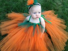 Pumpkin Tutu Dress Costume, Halloween Costume, Infant Pumpkin Costume, Pumpkin Tutu on Etsy, $38.00