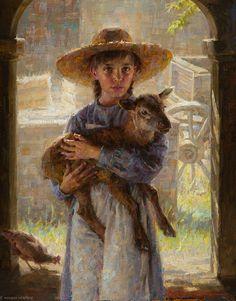 """Her Little Lamb"" 14x11 by Morgan Weistling"