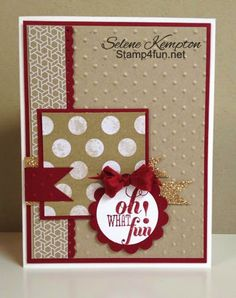 Stamp 4 fun with Selene Kempton: 4/14 Stampin' Up! More Merry Messages & Fresh Prints, Mojo Monday