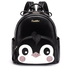 Sequins Cartoon Bird PU Leather Backpack ($39) ❤ liked on Polyvore featuring bags, backpacks, comic book, sequin bag, cartoon character backpacks, sequin backpack and backpack bags