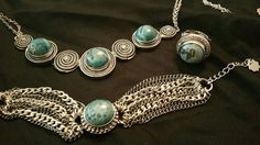 I love this Magnolia & Vine Bohemian Swirl Necklace, bracelet and ring! Turquoise is my favorite!