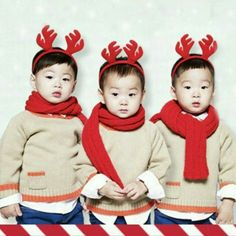 Happy birthday to Song triplets Daehan - Minguk - Mansae Superman Baby, Korean Babies, Asian Babies, Cute Kids, Cute Babies, Baby Kids, Kids Boys, Song Il Gook, Triplet Babies