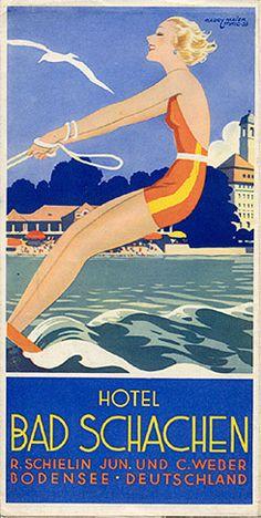 GERMANY - Hotel Bad Schachen - Bodensee - Deutschland, 1932
