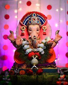 Shri Ganesh Images, Ganesha Art, Lord Ganesha, Lord Shiva, Pastel Color Wallpaper, Colorful Wallpaper, Pastel Colors, Ganpati Bappa Photo, Ganpati Decoration At Home
