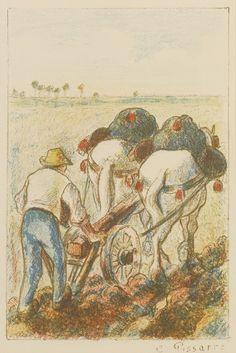 Camille Pissarro. Lithograph.