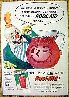 Vintage 1950 KOOL-AID ADVERTISING Retro Drink Ad Original |Magazine Ads 1960 Kool Aid