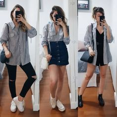 Branco e preto still/sun, 2019 летняя одежда, одежда ve корейская мода Trendy Outfits, Cool Outfits, Summer Outfits, Fashion Outfits, Womens Fashion, Fashion Tips, Elegantes Outfit, Mode Streetwear, Clothing Hacks