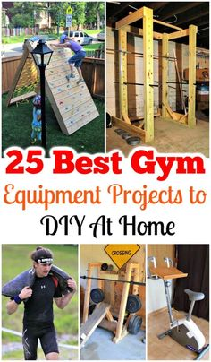 You can make your own gym at home by getting the necessary DIY gym equipment, machines, and tools! Buying the expensive exercise machines and gym equipment Best Gym Equipment, No Equipment Workout, Fitness Equipment, Power Rack, Bungee Jumping, Diy Hacks, Cool Diy, Diy Design, Crossfit
