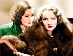 Greta Garbo y Marlene Dietrich.