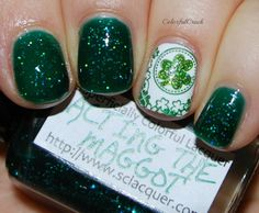 "Superficially Colorful Lacquer ""Acting the Maggot"" www.colorfulcrack.com"