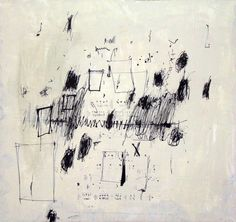 """No.6  by Anastazija Cepf.  I began with John Cage's believe that anarchy is the highest form of social organization - individuals in the politically empty space of his ideal """"no-government"""". Cage insisted upon that """"There is no such thing as silence""""."""