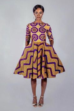 beautiful short ankara gown styles for ladies, short african print ankara gown styles with flare for african women Latest African Styles, Latest African Fashion Dresses, African Inspired Fashion, African Print Fashion, Africa Fashion, Ethnic Fashion, African Prints, Ankara Fashion, Fashion Outfits