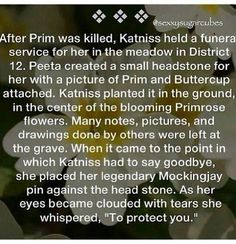 I'm going to go cry now.... but technically the part about protecting her wasn't in the book...