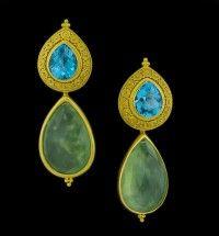 """Carolyn Tyler """"Susie"""" Blue Topaz Earrings"""