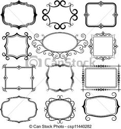 Vector - ornate vector frames set - stock illustration, royalty free illustrations, stock clip art icon, stock clipart icons, logo, line art, EPS picture, pictures, graphic, graphics, drawing, drawings, vector image, artwork, EPS vector art