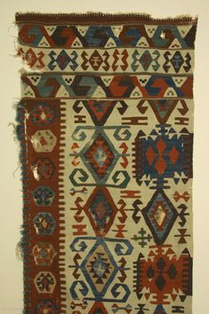 Anatolian kilim half, 18th century, 30 x 147 inches, Condition: Professionally cleaned; in exceptionally good condition for its age.