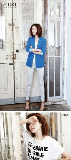 Actress Han Hyo Joo exuded a chic and mature vibe for her recent summer photo shoot with 'Viki Numerous.'While the settings ranged from vintage to mor… Korean Ootd, Korean Girl, Korean Style, Han Hyo Joo Fashion, Korean Beauty, Asian Beauty, Asian Fashion, Girl Fashion, Casual Office Wear
