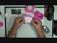 """Another video that creates a pull-out """"cover"""" behind a Stampin' Up! sweet treats cup to easily recover & eat! the candies!"""