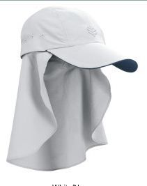 2fa3efa3efa15 Coolibar super sport legionnaire sun hat with removable drape UPF50+ and  very light Super Sport