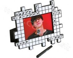 UMBRA design Crossword photo frame Umbra Word Challenge, Crossword, Challenges, Words, Frame, Gifts, Gift Ideas, Design, Crossword Puzzles