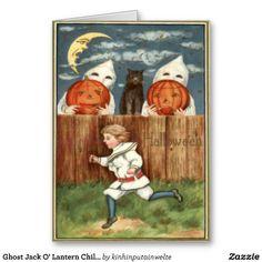 Ghost Jack O' Lantern Children Black Cat