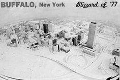 Continental Chrome Postcard Blizzard of Buffalo, NY History Of Hockey, Niagara Region, Buffalo New York, Buffalo Bills, Aerial View, Four Seasons, Back In The Day, The Great Outdoors, Niagara Falls