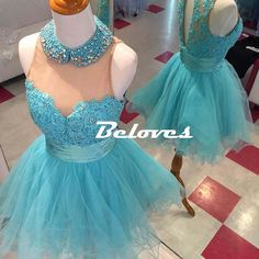 Blue Tulle Lace Bodice Cocktail Dress With Keyhole Back · Beloves · Online Store Powered by Storenvy