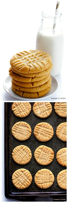 Peanut Butter Cookies -- my favorite recipe for this soft, chewy, and irresistible cookie! | gimmesomeoven.com
