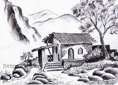 First landscape drawing by Jibari-chan