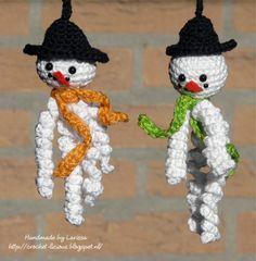 Crochet-licious: Sneeuwmannetjes voor mijn neefjes