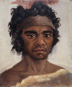'One of the NSW Aborigines in Australia, befriended by Governor Macquarie' c1810-1821 v@e