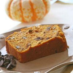 pumpkin chocolate chip bread (made with greek yogurt)