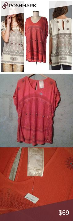 "Free People New Romantics Tunic NWT TAG SZ S...RUNS VERY OVERSIZED, SO MARKED A MEDIUM FOR THE LISTING...also works well for most L/XL.  Bust approx 55"" unstretched. Length 33"" Free People Tops Tunics"