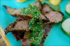 Adobe Marinated Flank Steak with Chimichurri Sauce!     www.everydaymanna.net