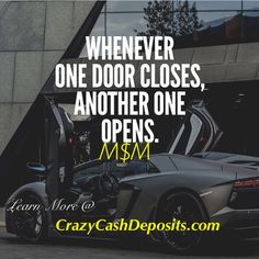 Poor Mindset: Watch the closing doors Rich Mindsets: Look for open doors You can't want success in your future if you dwell on the failures of your past... You have haters for that.... Learn How I make great money sharing cool photos http://CrazyCashDeposits.com